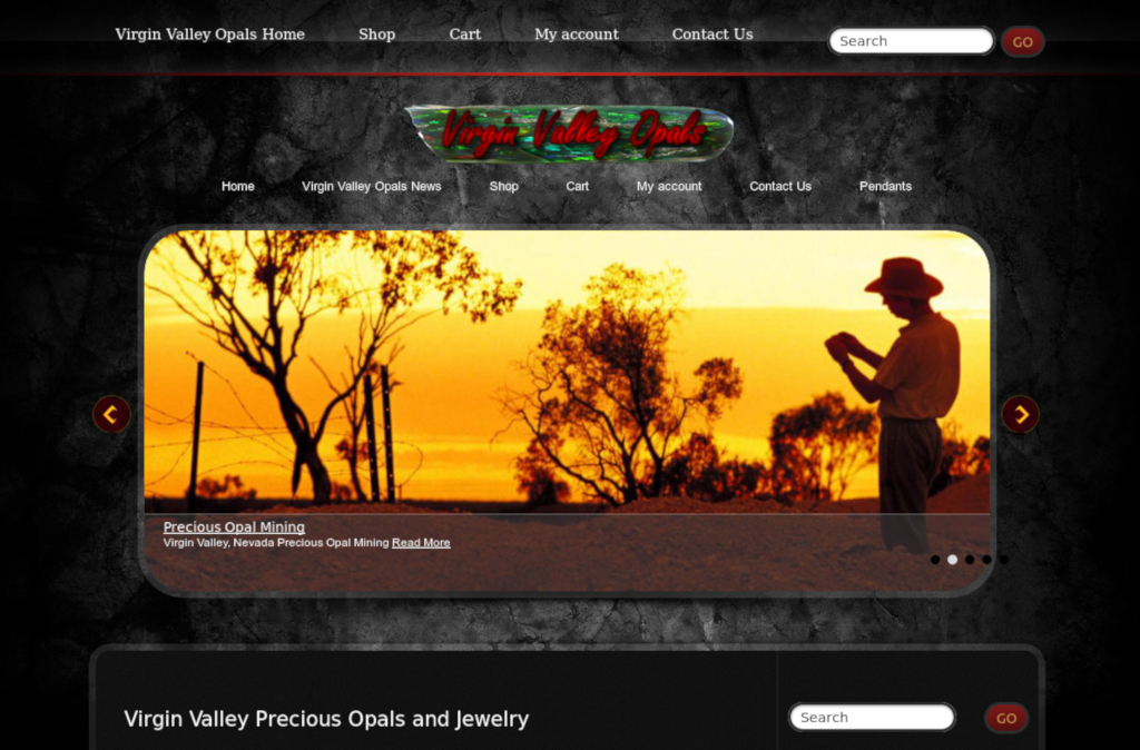 Virgin Valley Precious Opals and Jewelry